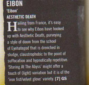 Interview of Eibon in Terrorizer #181, February 2009