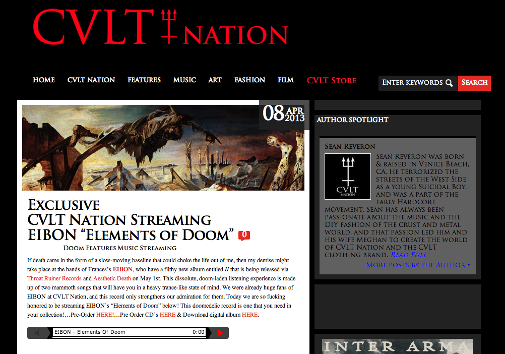 Eibon 'II' - CVLT Nation